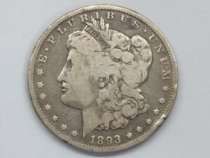 1893-CC Morgan Silver Dollar AG Uncertified