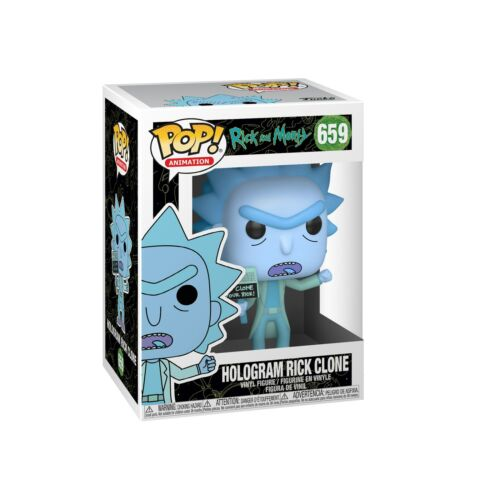 FUNKO POP ANIMATION HOLOGRAM RICK CLONE 659 44252 NEW IN STOCK RICK /& MORTY