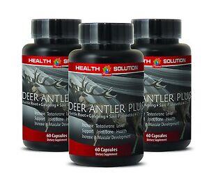 Skin Care Saw Palmetto Powder 550mg Elk Velvet Antler Hs-prime Male And Female 3 Bottles