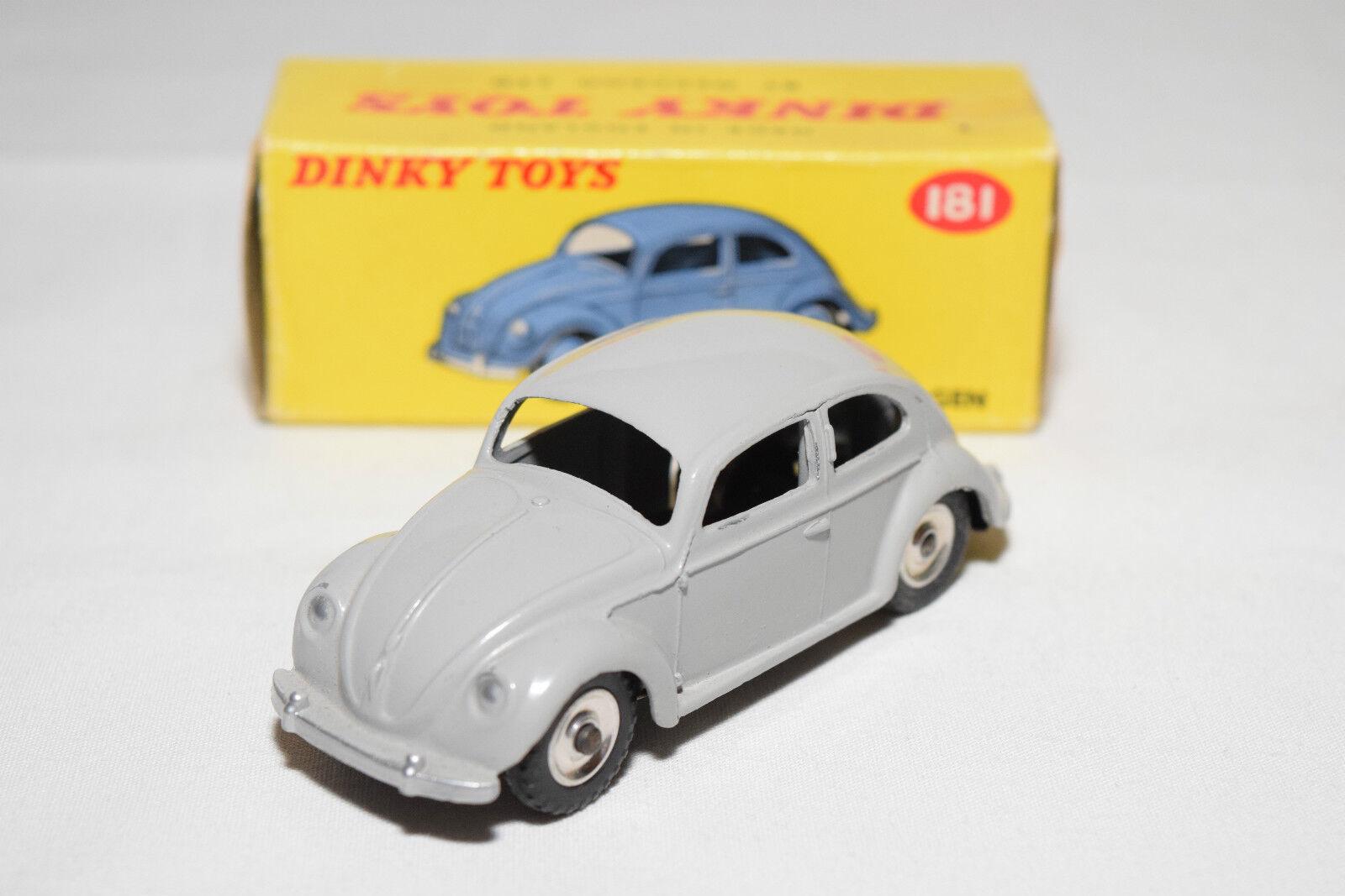 P DINKY TOYS 181 VW VOLKSWAGEN BEETLE KAFER gris SPUN MINT BOXED RARE SELTEN