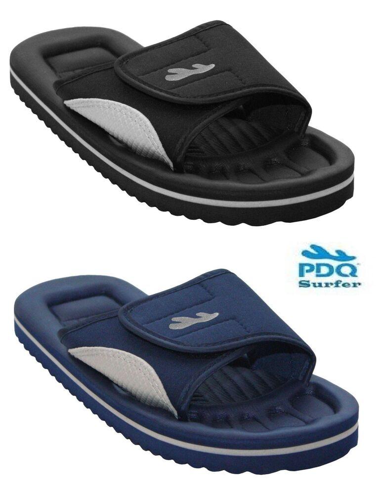 Hommes Enfiler Plage Bain Piscine Douche Mules Tongs Eva Sandales Chaussures 6-11