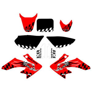 Details about Honda CRF50 Woody Red Graphic Kit FREE SHIPPING!!!