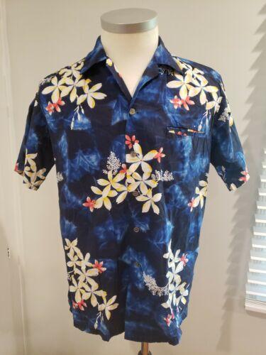 Vtg 50s Kamehameha Hawaiian shirt, loop collar,  c