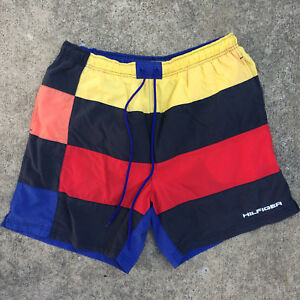 713de3f71d Image is loading Rare-Vintage-Tommy-Hilfiger-Color-Block-Surf-Strupe-