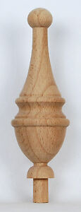 1-DELICATE-WOODEN-FINIAL-11-cm-4-5-in-Ref-E39-FINELY-DETAILED-amp-TURNED