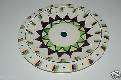Studio/ Handcrafted Pottery Wow Nice Vintage Ceramic Sun Steve Hasslock Hand Painted Signed Plate Bowl Rare Convenience Goods