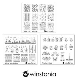 Winstonia-3pcs-Christmas-Nail-Stamp-Image-Plates-Set-Easy-Stamping-Manicure-Kit