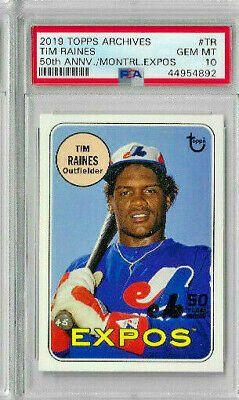 1981 topps #479 TIM RAINES montreal expos rookie card BGS BCCG 9 Graded Card