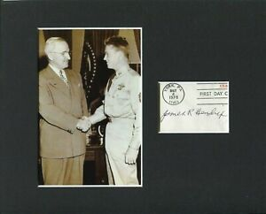 James R. Hendrix Medal Of Honor WWII 4th Armored Signed Autograph Photo Display