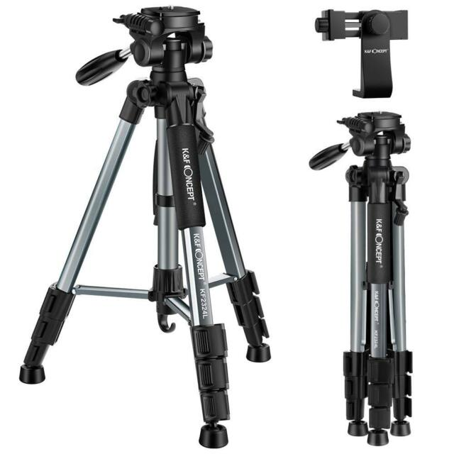 K&F Concept Lightweight Travel Camera Phone Tripod Outdoor Video Compact 142cm