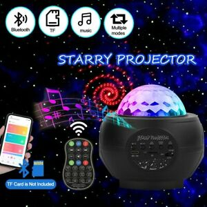 LED Galaxy Starry Night Light Projector Ocean Star Sky Party Lamp Speaker Remote