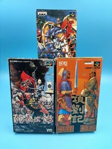 jeu-video-snes-nintendo-nes-JAP-3-jeux-complet-Nobunaga-Kouryuuki-battle-robot