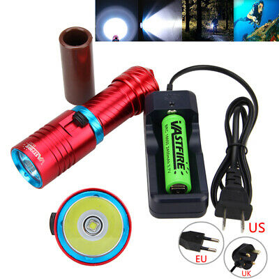 5000LM XM-L T6 LED Diving Scuba Flashlight Swimming Torch Light Underwater 100M