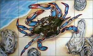 Blue-Crab-Tile-Backsplash-Nancy-Jacey-Sea-Life-Art-Ceramic-Mural-CPA-NJ15060