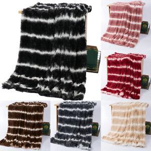 couverture-moelleuse-jette-canape-lit-chaud-doux-Shaggy-confortable-couvre-lit-G
