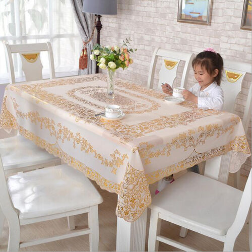 Waterproof Oil Proof PVC Table Cloth Cover Protector Tablecloth Dining Kitchen