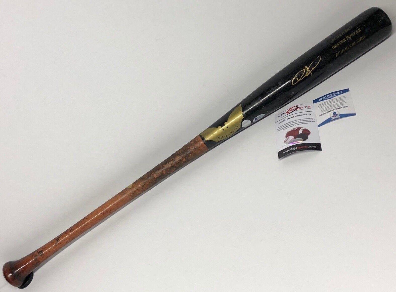 Dexter Fowler Signed Houston Astros Game Used Sam-Bat Baseball Bat Beckett 81181