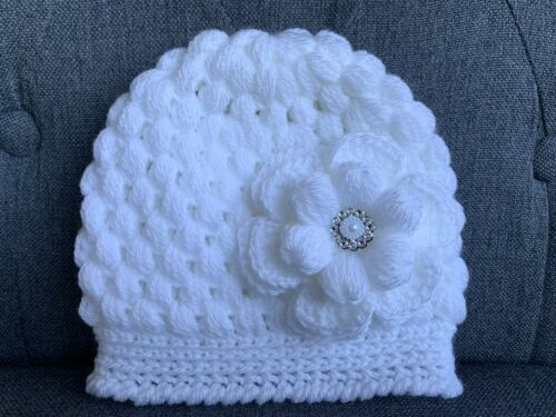 New hand knitted  Romany Bling baby girl booties//crochet hat 0-3 months