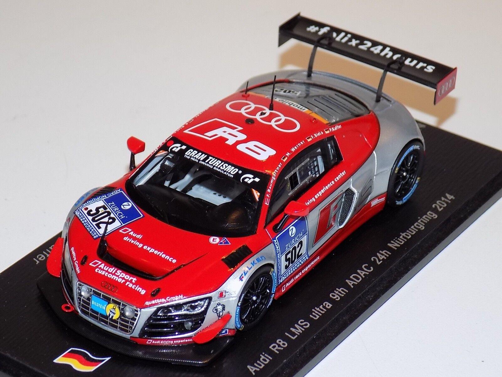 1 43 SPARKI R8 LMS Ultra voiture  502 24 H du Nurburgring 2014 SG136