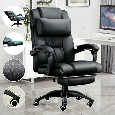 Executive Office Chair Gaming Chair Leather Swivel Recliner Computer Desk Chair Ebay