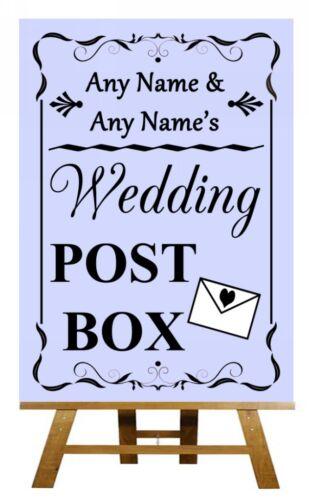 Lilas mariage boîte postale Personnalisé Mariage Signe Poster