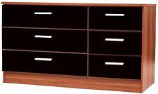 caspian high gloss black walnut bedroom furniture set full