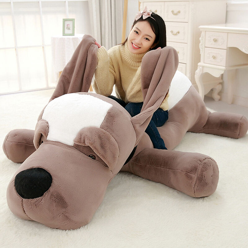 Giant Big Puppy Dog Plush Stuffed Animal Lying Soft Toy Doll Pillow Kids Gifts @