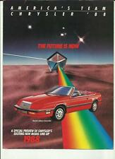 CHRYSLER USA FULL CAR RANGE SALES BROCHURE 1988