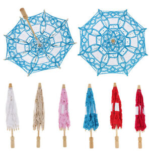 Lace Flower Bridal Umbrella Embroidery Parasol for Dancing Photography Prop