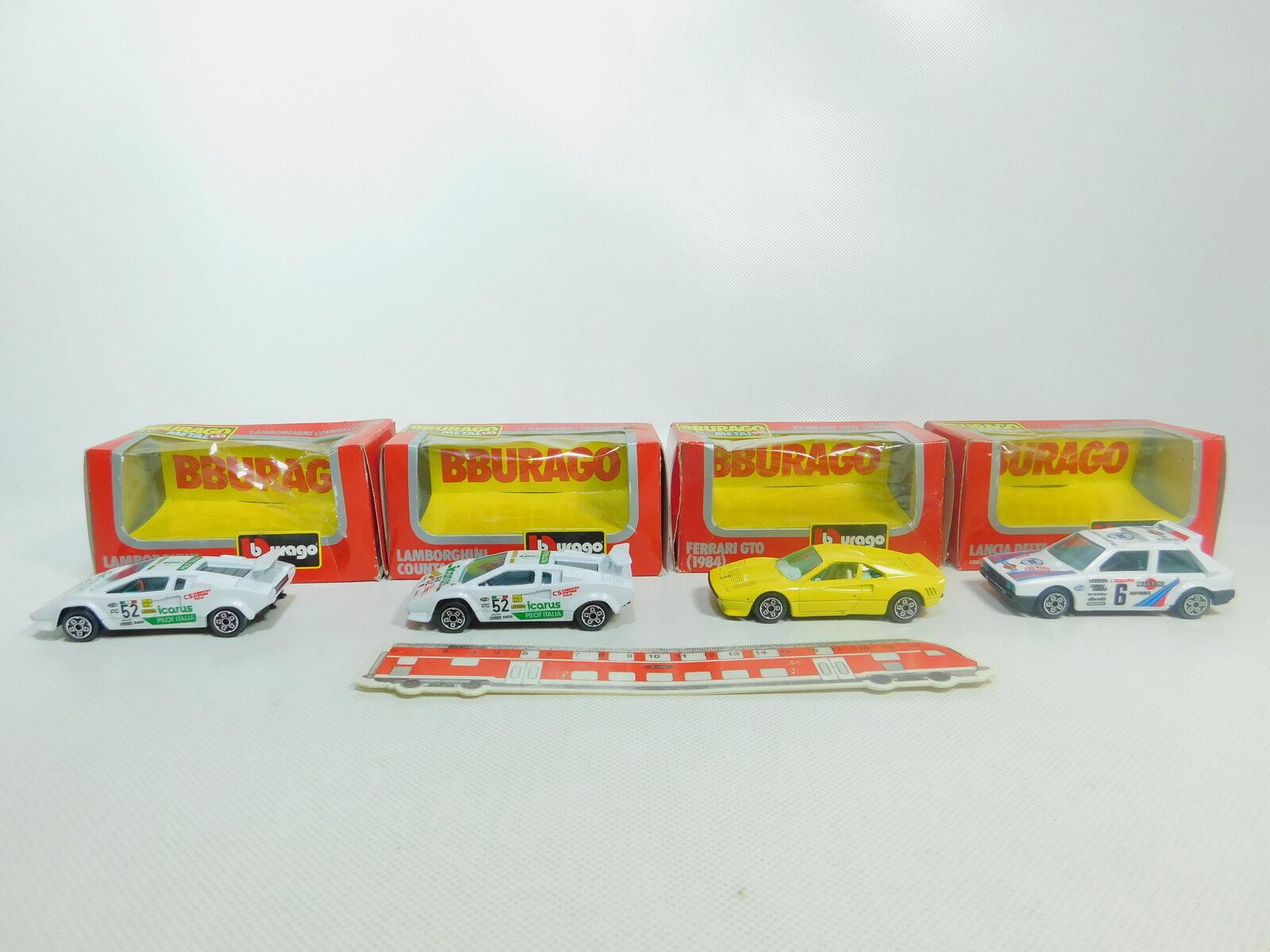 BO889-1x Burago 1 43 Modello    4175 Ferrari+4135 Lancia+4127 Lamborghini, Ovp 4f3e8d