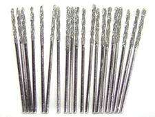Set 1mm Diamond Coated Twist Drill Bits 20 Pcs Lot Fits Dremel Jewelry Stones