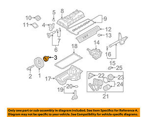 bmw oem 09 11 z4 3 0l l6 engine harmonic balancer 11237553142 ebay rh ebay com Chevrolet 4.2 L6 Engine Diagram Chevy L6