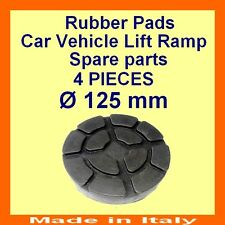 SET OF 4 PADS Ravaglioli 2 Post Car Lift Ramp Rubber Pads -125mm -Made in Italy-