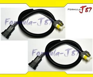 Wire-Extension-H11-Two-Harness-Fog-Light-Bulb-Socket-Replacement-Connector-Plug