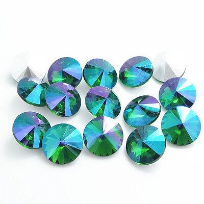 NEW Color AB 5pcs XILION ELEMENTS Crystal glass Rivoli loose Beads DIY 18mm