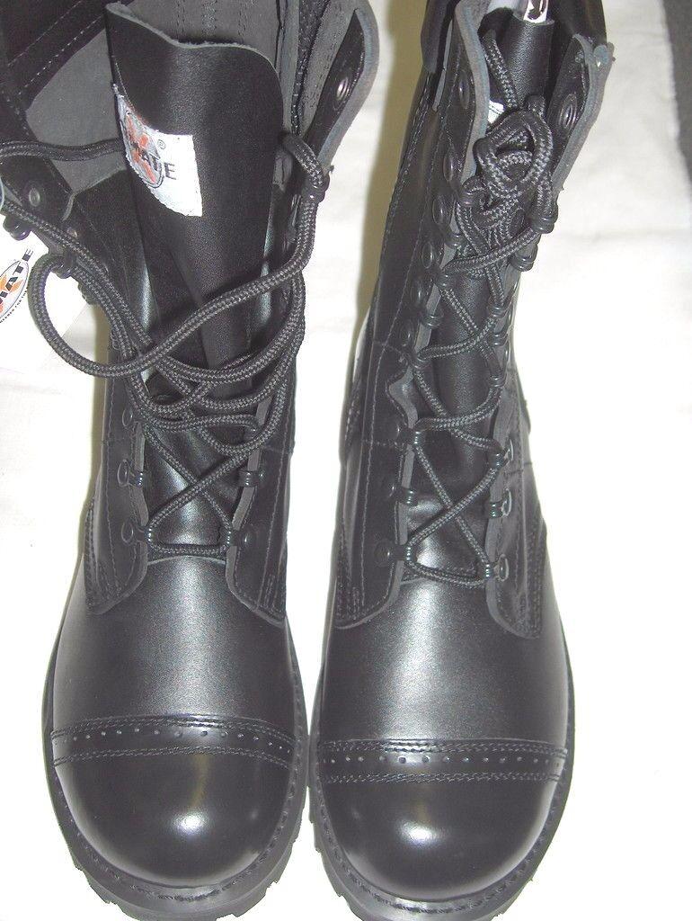 botas De Salto De Cuero Calidad Estilo Ejército Militar Hi tamaños de 7 a 13
