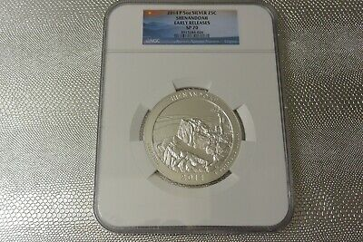 2014-P NGC SP70 Great Sand Dunes Early Releases ATB 5 oz Silver Coin