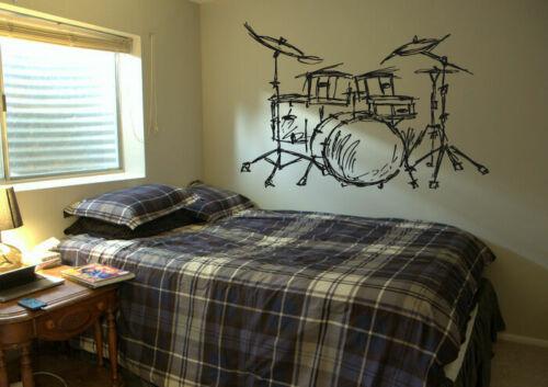 Wall Decal Vinyl Sticker Bedroom drums music melody rock nursery  bo3296