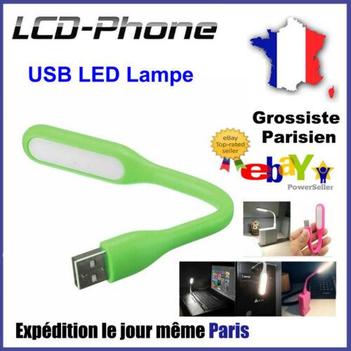 MINI Flexible USB LED Lampe Lecture Pr Clavier Ordinateur Portable PC Power Bank