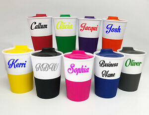 double wall plastic coffee cup with DIY advertising paper