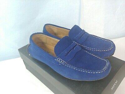 Alfani Mens Shoes 8.5 Blue Suede