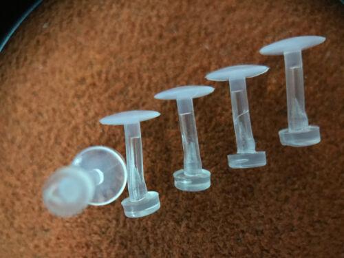 "18G BIOFLEX BIOPLAST LABRET RETAINER EAR LIP TRAGUS HELIX MONROE 1//4/"" OR 9//32/"""