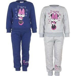 Disney Minnie Mouse M/ädchen Baby Jogging Anzug grau