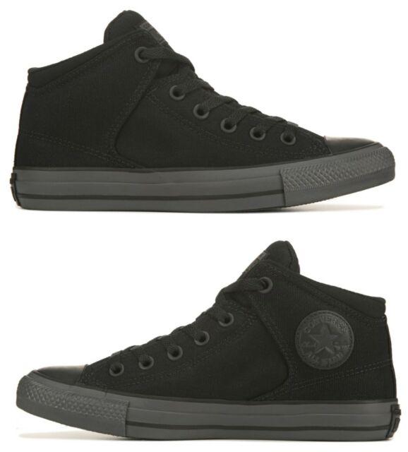 banco modelo Disfraces  Converse Mens Shoes Chuck Taylor Mid Street Black Canvas SNEAKERS 10 for  sale online   eBay