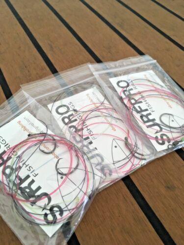 Hi-Lo Fishing Rigs // Chicken Rigs 3 Pack 40lb Camo Mono 2//0 Circle Hooks