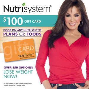 Nutrisystem $100 Gift Card No Expiration