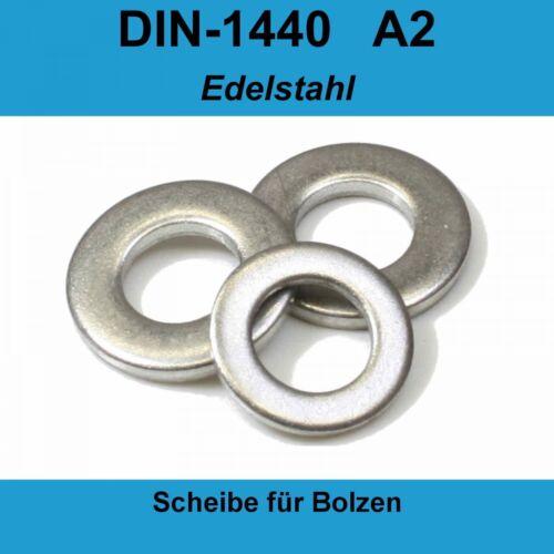 M20 DIN 1440 Unterlegscheiben A2 Edelstahl Scheiben Bolzen ISO8738 M 20 20-500St