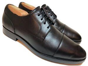 cole haan grand os mens 95 m black leather cap toe
