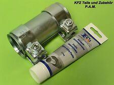 Auspuffschelle 56-60,5 x 125 mm Doppelschelle Rohrverbinder mit Montagepaste