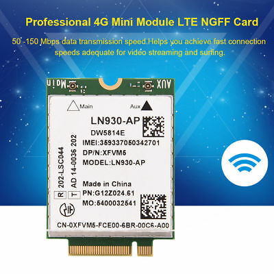 Consumer Electronics Tablets E-Books Mini 4G LTE Card with WWAN M 50~150 Mbps Data Speeds NGFF Card for PDA 2 Interface etc